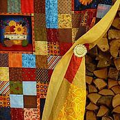 Для дома и интерьера ручной работы. Ярмарка Мастеров - ручная работа Лоскутная интерьерная штора У бабушки за печкою... пэчворк. Handmade.