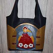 """Комплект :кожаная сумка, косметичка, очечник """"Забава"""""""