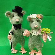 Куклы и игрушки ручной работы. Ярмарка Мастеров - ручная работа Мышиные пары. Handmade.