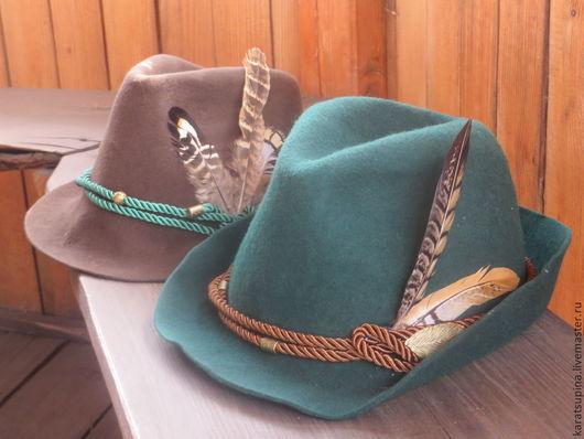 """Шляпы ручной работы. Ярмарка Мастеров - ручная работа. Купить Шляпа охотника """"А-ля Тироль"""". Handmade. Шляпа, охотник"""