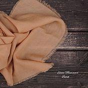 Аксессуары ручной работы. Ярмарка Мастеров - ручная работа Кашемировый шарф Крем-брюле, теплый женский шерстяной шарф эко окрашив. Handmade.