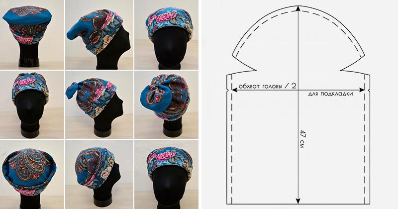 Как сшить шапку из платков своими руками