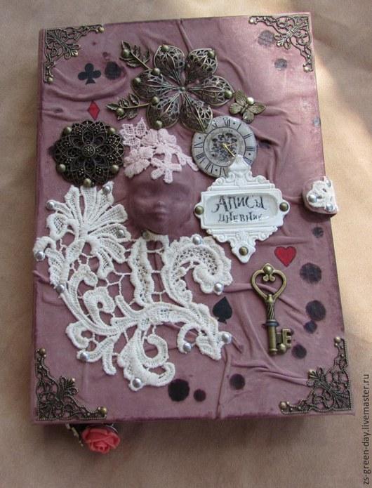 Блокноты ручной работы. Ярмарка Мастеров - ручная работа. Купить Дневник алисы. Handmade. Бежевый, кружево винтажное