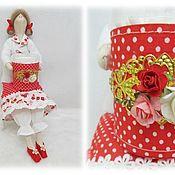 Куклы Тильда ручной работы. Ярмарка Мастеров - ручная работа Тильда хранительница ватных палочек. Handmade.