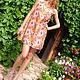 Платья ручной работы. Ярмарка Мастеров - ручная работа. Купить Платье трапеция из шелка. Handmade. Цветочный, платье из батиста, цветы