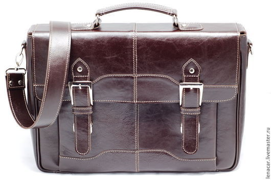 Мужские сумки ручной работы. Ярмарка Мастеров - ручная работа. Купить Мужская кожаная сумка-портфель 218, 290. Handmade.