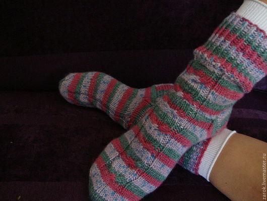 """Носки, Чулки ручной работы. Ярмарка Мастеров - ручная работа. Купить Носочки """"Привет от Пеппи"""". Handmade. В полоску, подарок"""