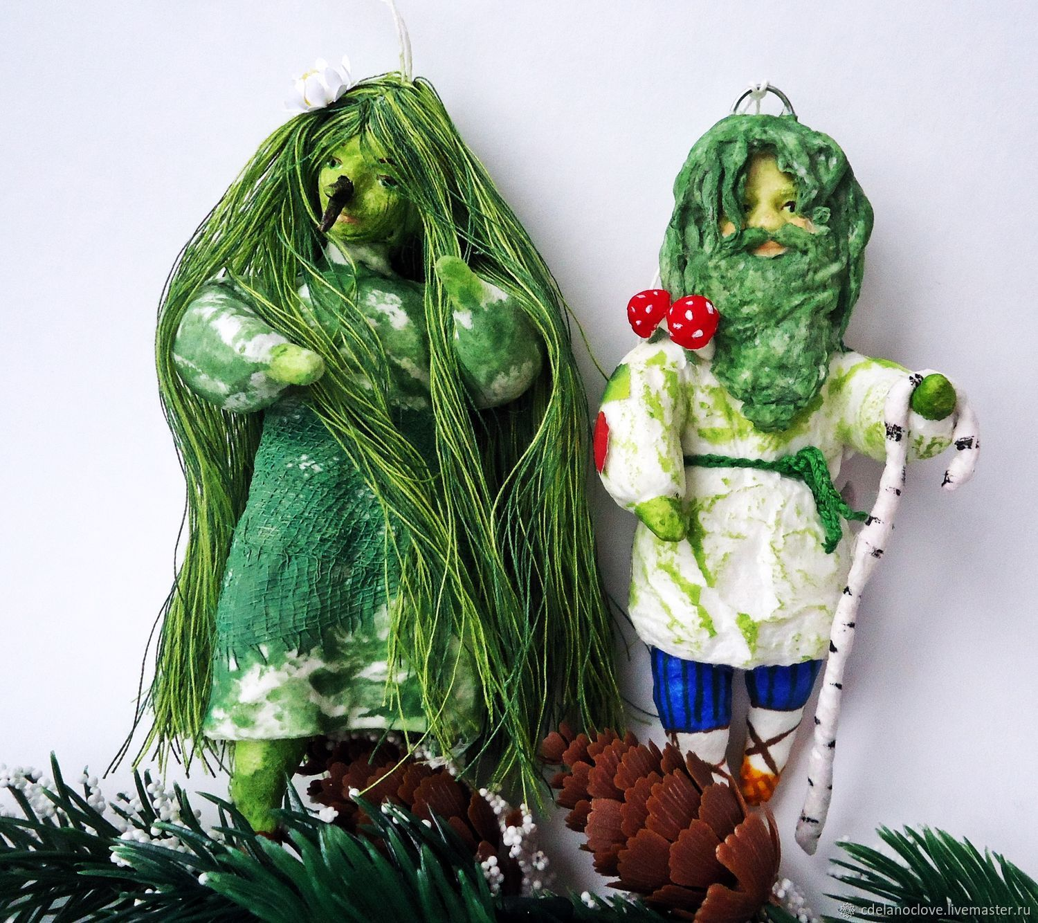 The Goblin and the hobgoblin - cotton toy, Christmas decorations, Kursk,  Фото №1