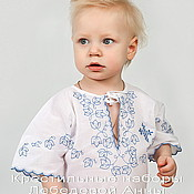 Работы для детей, handmade. Livemaster - original item Baptismal shirt With 88 for a boy. Handmade.