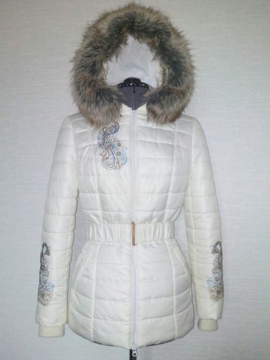 """Верхняя одежда ручной работы. Ярмарка Мастеров - ручная работа. Купить Куртка """"Птицы"""".. Handmade. Зимняя куртка, застежка молния"""