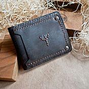Сумки и аксессуары handmade. Livemaster - original item Wallet protection leather purse. Handmade.