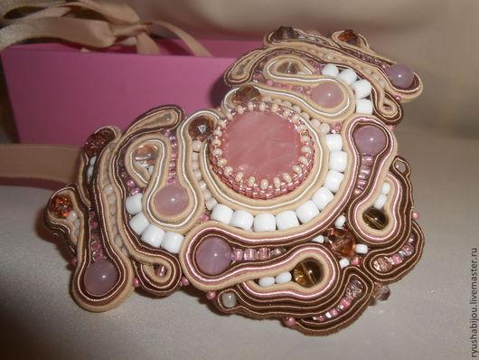 """Колье, бусы ручной работы. Ярмарка Мастеров - ручная работа. Купить Колье с розовым кварцем """" Мечта"""". Handmade."""