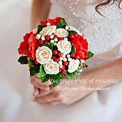 Свадебный салон ручной работы. Ярмарка Мастеров - ручная работа Букет (маки, розы, ягоды). Handmade.