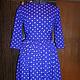 """Платья ручной работы. Ярмарка Мастеров - ручная работа. Купить Платье ретро с пышной юбкой """" Горошек"""". Handmade. Синий"""