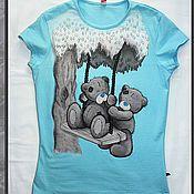 """Одежда ручной работы. Ярмарка Мастеров - ручная работа роспись одежды """"мишки Teddy"""". Handmade."""