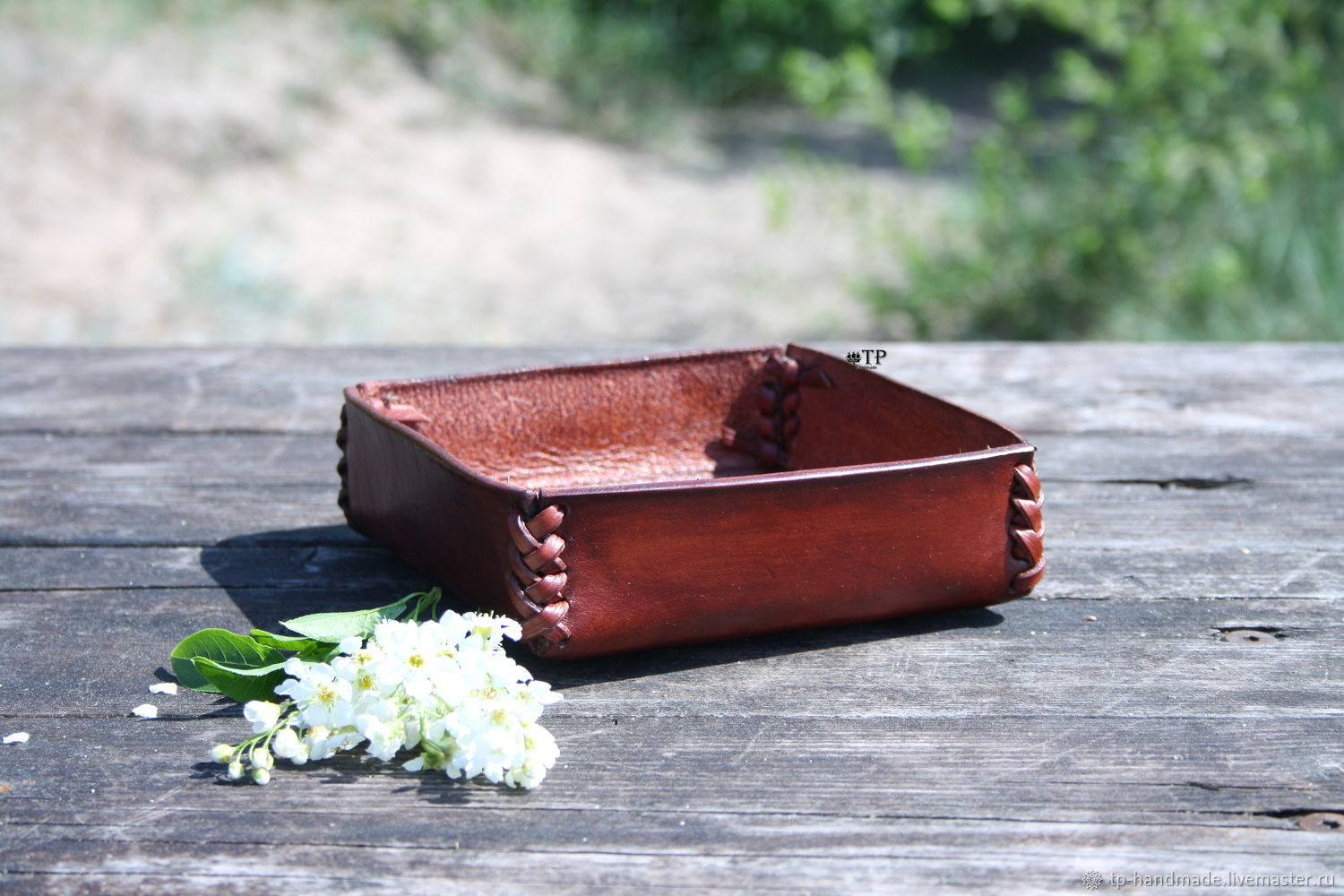 Leather plate (organizer) for interior and office, Jewelry storage, St. Petersburg,  Фото №1