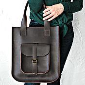 Сумки и аксессуары handmade. Livemaster - original item Women`s leather brown bag SORA. Handmade.