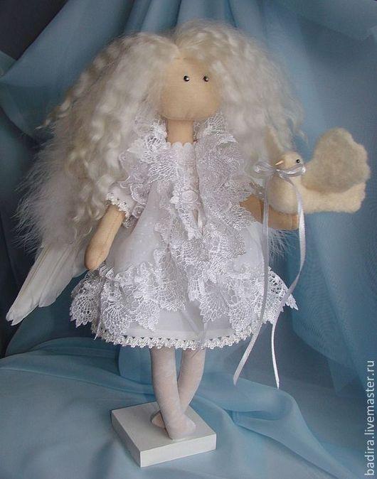 Коллекционные куклы ручной работы. Ярмарка Мастеров - ручная работа. Купить Спокойный Ангел. Handmade. Белый, подарок на именины, полиэстер