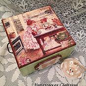 Для дома и интерьера ручной работы. Ярмарка Мастеров - ручная работа шкатулка для украшений Зайцы хранение подарок декупаж. Handmade.