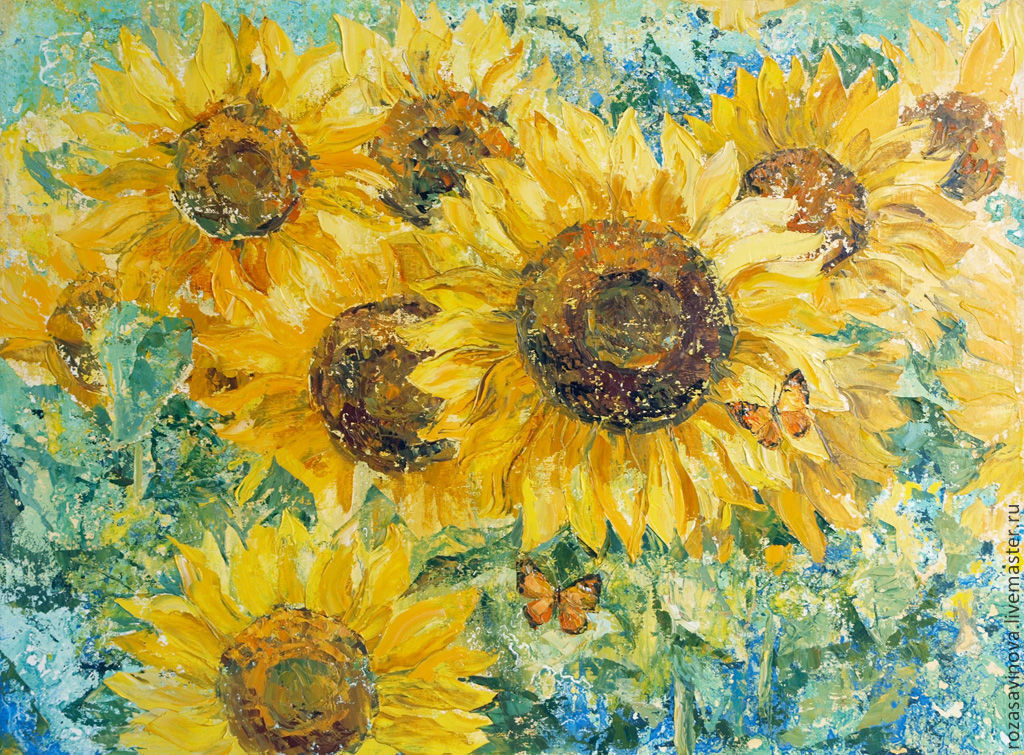 oil painting 'Sunflowers', Pictures, Magnitogorsk,  Фото №1