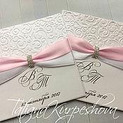 Свадебный салон ручной работы. Ярмарка Мастеров - ручная работа Приглашения на свадьбу розовые. Handmade.