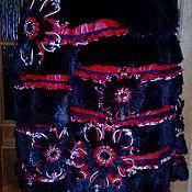 """Одежда ручной работы. Ярмарка Мастеров - ручная работа Шубка """"Огненный цветок"""". Handmade."""