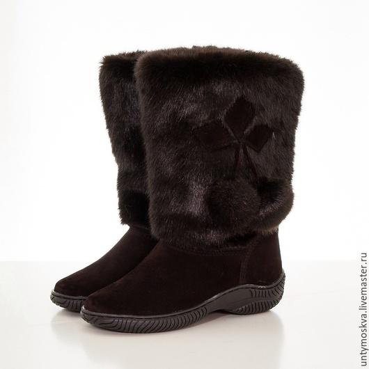 Обувь ручной работы. Ярмарка Мастеров - ручная работа. Купить Унты женские ( литая подошва ) уж34. Handmade.