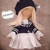 Куклы и игрушки ручной работы. Ярмарка Мастеров - ручная работа Кукла текстильная, интерьерная, в черно-белом тоне.. Handmade.
