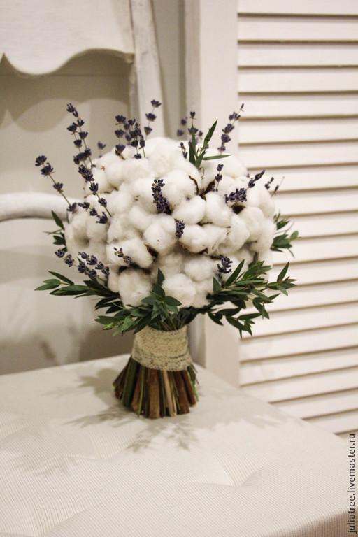 """Букеты ручной работы. Ярмарка Мастеров - ручная работа. Купить Букет невесты """"Нежный хлопок"""". Handmade. Белый, букет невесты"""