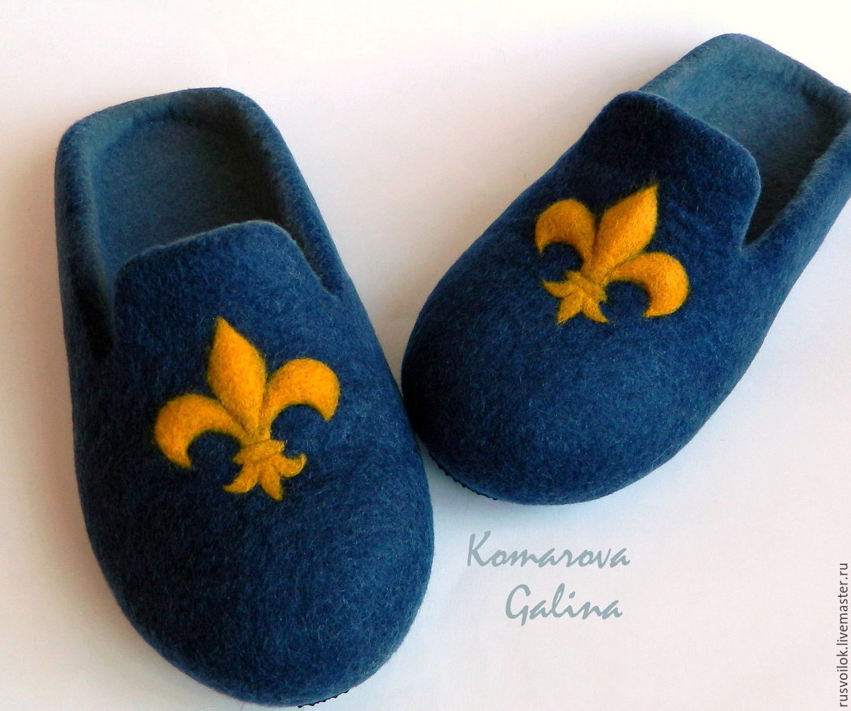 mens felted slippers 'royalty'felted, Slippers, Moscow,  Фото №1