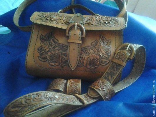 Женские сумки ручной работы. Ярмарка Мастеров - ручная работа. Купить сумка+ремень+браслет. Handmade. Рыжий, сумка ручной работы, этно