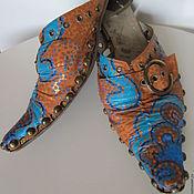 Обувь ручной работы. Ярмарка Мастеров - ручная работа сабо и их преображение. Handmade.