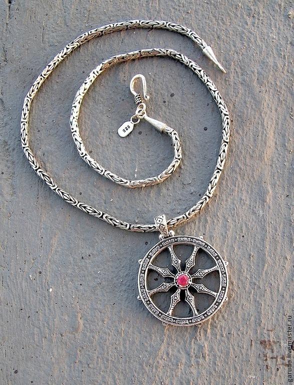 Pendant wheel of dharma shop online on livemaster with shipping pendant pendants handmade pendant wheel of dharma garuda aloadofball Gallery
