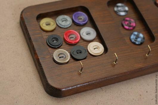 Прихожая ручной работы. Ярмарка Мастеров - ручная работа. Купить Ключница, деревянная ключница. Handmade. Коричневый, ключница, пуговицы