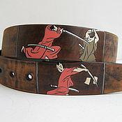 Аксессуары handmade. Livemaster - original item SAMURAI-KARP strap leather. Handmade.