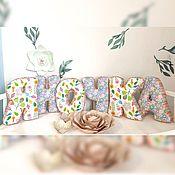 Подушки ручной работы. Ярмарка Мастеров - ручная работа Буквы -подушки. Handmade.