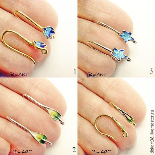 Basis for earrings, silver Art. OS92558, Blanks for jewelry, Irkutsk,  Фото №1