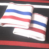 Одежда ручной работы. Ярмарка Мастеров - ручная работа подвязы  полосатые   манжеты. Handmade.