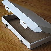 Фурнитура ручной работы. Ярмарка Мастеров - ручная работа ПЛОСКАЯ самосборная коробка с ушками из микрогофрокартона. Handmade.