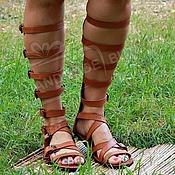 Обувь ручной работы handmade. Livemaster - original item roman sandals gladiator genuine leather red. Handmade.