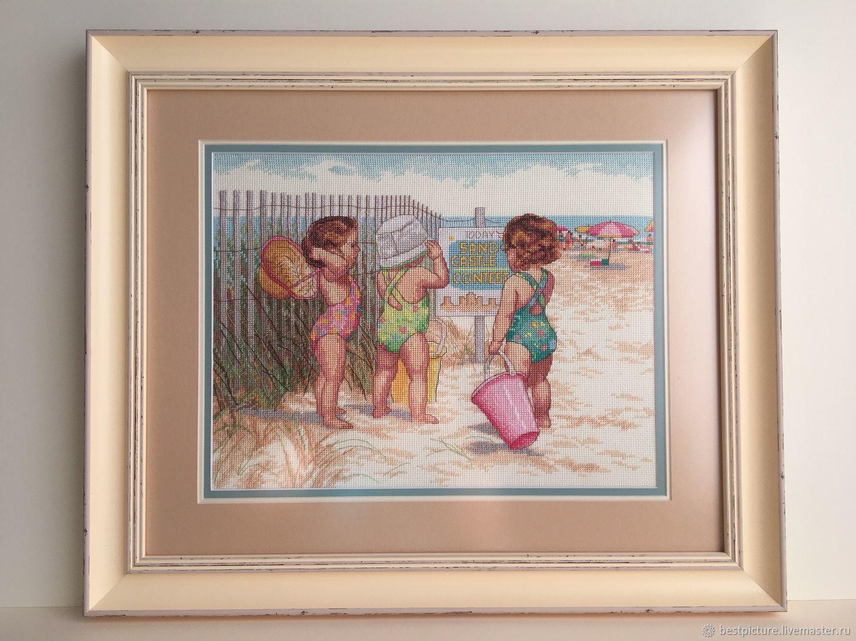 Dimensions 35216 Beach Babies. Дети на пляже, Картины, Санкт-Петербург,  Фото №1