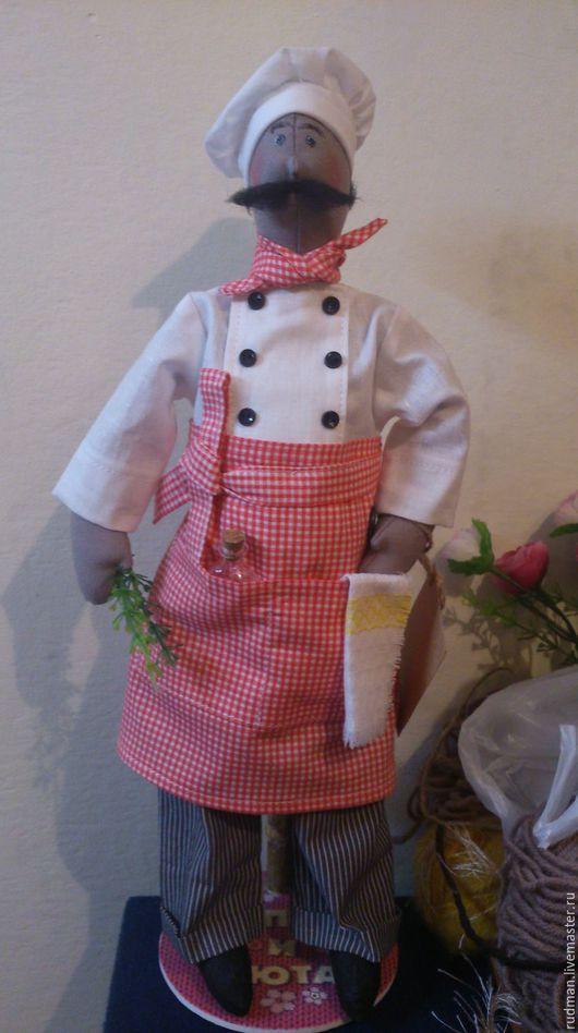 Куклы Тильды ручной работы. Ярмарка Мастеров - ручная работа. Купить Шеф-повар. Handmade. Ярко-красный, синтепух