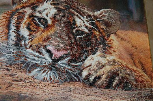 Животные ручной работы. Ярмарка Мастеров - ручная работа. Купить Тигр. Handmade. Картина в подарок, подарок на любой случай, животные