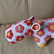 Куклы и игрушки ручной работы. Ярмарка Мастеров - ручная работа Бегемотик африканским цветком. Handmade.
