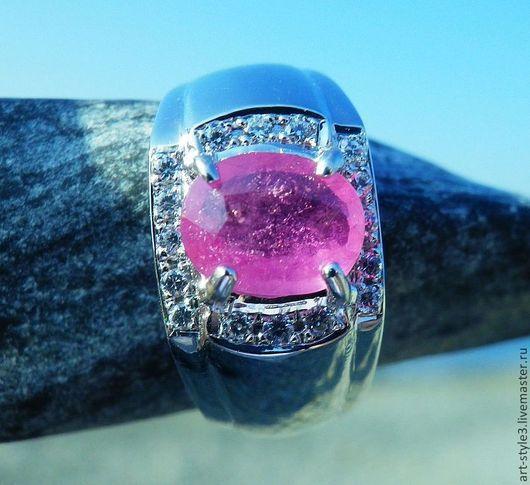 Кольца ручной работы. Ярмарка Мастеров - ручная работа. Купить Перстень с рубином, серебро 925 пробы. Handmade. Драгоценные камни