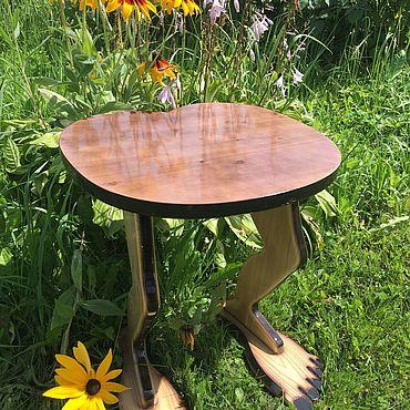 Мебель ручной работы. Ярмарка Мастеров - ручная работа Табурет авторский. Handmade.