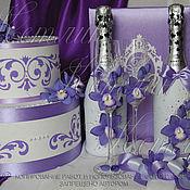 Свадебный салон ручной работы. Ярмарка Мастеров - ручная работа Комплект аксессуаров с орхидеями. Handmade.