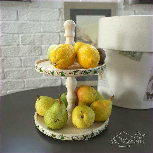 Кухня ручной работы. Ярмарка Мастеров - ручная работа. Купить Сервировочная ваза. Handmade. Белый, хранение, шеби