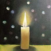 """Фен-шуй и эзотерика ручной работы. Ярмарка Мастеров - ручная работа Картина """"Горящая свеча"""". Handmade."""