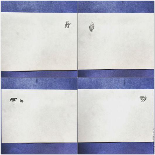 Упаковка ручной работы. Ярмарка Мастеров - ручная работа. Купить Конверты со зверушками ч.2. Handmade. Чёрно-белый